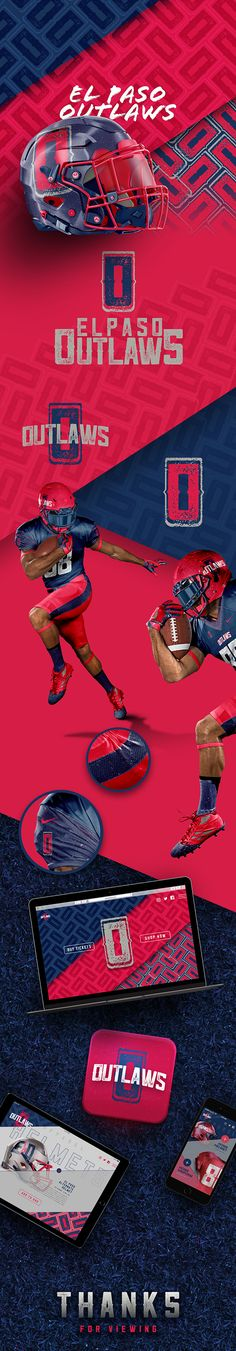 El Paso Outlaws Football on Behance