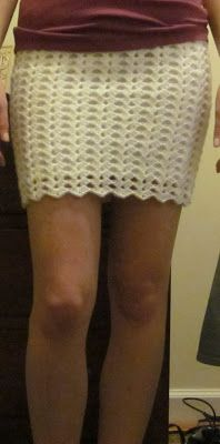The Crafty Novice: DIY Crochet: Lace Skirt