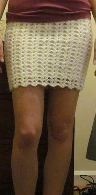 The Crafty Novice: DIY Crochet: Lace Skirt