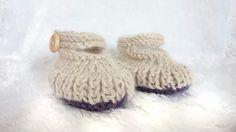 Baby Girl Shoes - Baby Booties - Patucos - Botines bebe - Booties - Alpaca Knits by MerrywoodFarm on Etsy