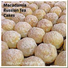 Time To Bake Chinese New Year/ Xmas Cookies–Macadamia Russian Tea Cakes
