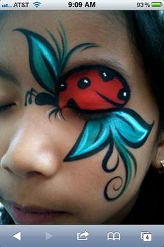 Face painting ~ Ladybug idea