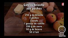 Gourmand - Gâteau brioché aux pêches - 20150625