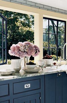 blue base cabinets