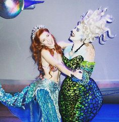 Sherie Renee Scott and Sierra Boggess as Ursula and Ariel in The Little Mermaid