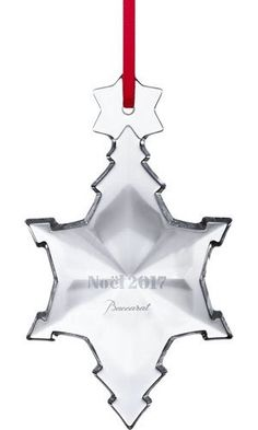 2017 Clear Crystal Christmas Annual Ornament By Baccarat