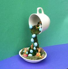 Spring Décor Easter Centerpiece Topiary Floating Cup