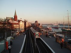 Harbour of Hamburg, Germany, Underground Railway Station,  Landungsbrücken