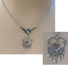Silver Celtic Heart Pendant Necklace Jewelry Handmade NEW Fashion Accessories #handmade http://www.ebay.com/itm/161943185413?ssPageName=STRK:MESELX:IT&_trksid=p3984.m1555.l2649