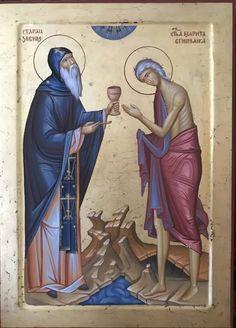 Orthodox Catholic, Orthodox Christianity, Religious Paintings, Religious Art, St Mary Of Egypt, Prophetic Art, Byzantine Art, Orthodox Icons, Saints