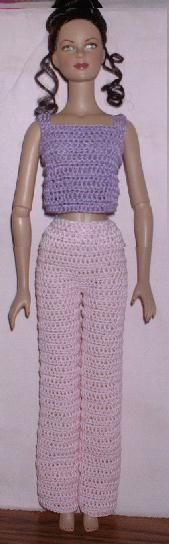 FREE - CROCHET crochet basic pants