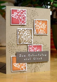 love the use of colored blocks using different parts of the same stamp in white and using the whole stamp as a background.