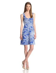 Plenty by Tracy Reese Women's Mona Sleeveless Printed Faillle Fit Flare Dress, Blue/Wave, 4 Plenty by Tracy Reese http://www.amazon.com/dp/B00J9ECZ0G/ref=cm_sw_r_pi_dp_x3CBub0FY5Y20
