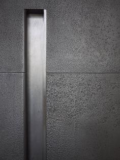 Steel Offset Pivot Entry Door - Grip handle Detail