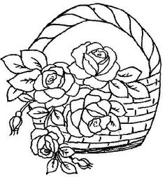 Floral Embroidery Patterns, Vintage Embroidery, Embroidery Designs, Applique Quilts, Embroidery Applique, Embroidery Stitches, Coloring Pages For Grown Ups, Flower Coloring Pages, Crazy Quilting