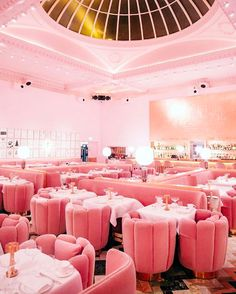This magical interior of a London restaurant. | 21 Pictures Of Pink Things To Soothe Your Weary Soul