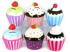 Large Cupcake Money Box Large Cupcake, This Little Piggy, Money Box, Mini Cupcakes, Piggy Bank, Desserts, Boxes, Food, Tailgate Desserts