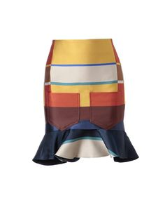 Striped silk-blend skirt by OSTWALD HELGASON at Browns Fashion for £470.00