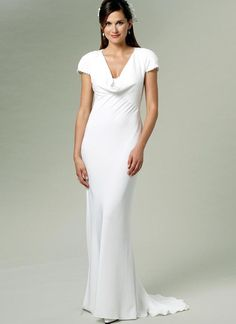 Misses' Draped-Front Dress (B5710)