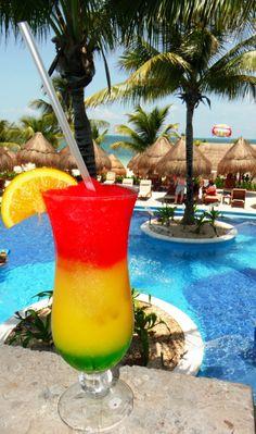 Yum, yum... Bob Marley cocktail at Excellence Playa Mujeres. Just set back and relax. Enjoy!