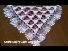 Bülbül Yuvası Üçgen Şal Modeli Crochet Daisy, Knit Or Crochet, Lace Knitting, Crochet Shawl, Crochet Flowers, Crochet Stitches Patterns, Crochet Patterns For Beginners, Lace Patterns, Baby Knitting Patterns