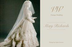 Mary Dayton Richards; Una novia de finales del siglo XIX | Vintage by López Linares