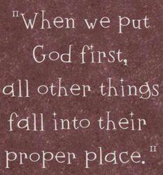 God first!!!!!