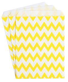 Yellow Chevron Candy Buffet Bags (set of 25)