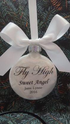 In Memory of  Memorial Christmas Ornament by ShopCreativeCanvas