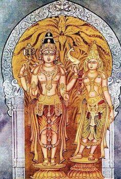 Shiva Parvathi uttama_dasatala by Shilpi Sri Siddalingaswamy of Mysore Shiva Parvati Images, Krishna Hindu, Durga Images, Shiva Shakti, Hindu Deities, Shiva Art, Hindu Art, Hanuman, Mysore Painting