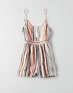 7754486cd192 AE Smocked Button Front Jumpsuit. American Eagle RomperAeo70s ...