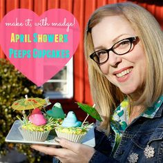 April Showers Peeps Cupcakes by Margot Potter