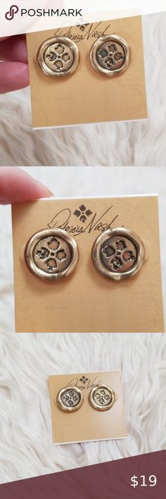 Patricia nash gold studs NWT Brand new in packaging.  Never opened or used . Comes from a smoke free and pet free home.  I bubble wrap to ensure a smooth delivery.  Price of $19 is firm. First come,  first served.  Thank you for checking out my closet 😊 Patricia Nash Jewelry Necklaces My Bubbles, Patricia Nash, Bubble Wrap, Gold Studs, Smooth, Jewelry Necklaces, Delivery, Packaging, Smoke Free