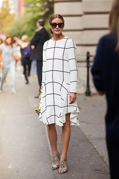 Plaid ruffle dress - Olivia Palermo street style