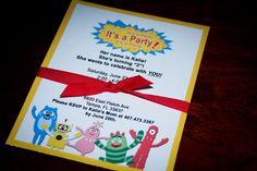 Yo Gabba Gabba Birthday Party Invitations - Set of 12. $28.80, via Etsy.