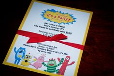 Yo Gabba Gabba Birthday Party Invitations