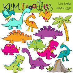 KPM Dino Derby Digital Clip COMBO by kpmdoodles on Etsy