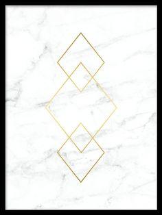 Poster med guld och marmor...