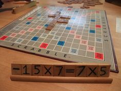 Number Scrabble- write numbers and operations of the back of Scrabble tiles.  Students play by writing equations and expressions that are true.  Great for a math center activity.