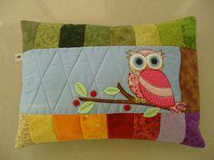 almofada coruja patchwork - Pesquisa Google