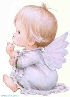 Baby and teddy bear Illustration Angel Images, Angel Pictures, Cute Pictures, Christmas Angels, Christmas Art, Illustrator, Sarah Kay, Angels Among Us, Guardian Angels
