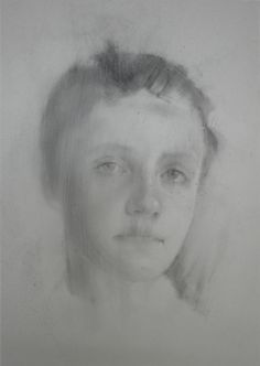 Artist Caragh Savage Henriette: Quiet Memory, 15x12in, charcoal on drafting film, 2017