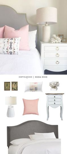 Copy Cat Chic Room Redo | Pink & Gray Bedroom | | Copy Cat Chic | chic for cheap | Bloglovin'