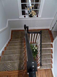 Linus Leopard Print Stair Runner  {Kate Nisbet Designs}