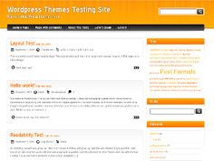 Modern theme with decent design. Orange and black are main colors used in the theme. Menu is widgetized. xHTML/CSS code is light/optimized.