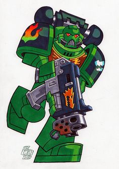 Salamanders Space Marine by Chad73 on DeviantArt