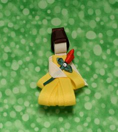 Belle Hair Bow Clip by TwoSisterBugs on Etsy, $6.00