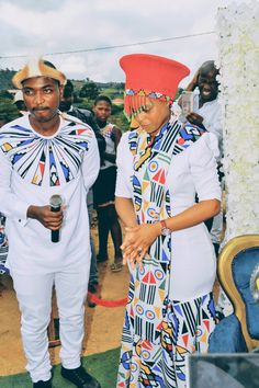 African Attire Ndebele African Men, African Attire, African Fashion Dresses, African Beauty, African Dress, African Outfits, African Traditional Wear, African Traditional Wedding Dress, Traditional Outfits
