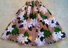 earth tones woman's hula pa'u hula skirt by SewMeHawaii on Etsy