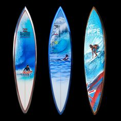 Surfboard art in memory of surfer, Andy Irons. See more in the 'The Art of the Pipe Masters'